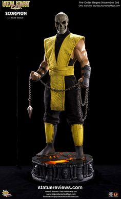 Mortal Kombat Klassic Scorpion Statue by Pop Culture Shock