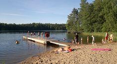 The beach of Siikajärvi (Espoo, Finland).
