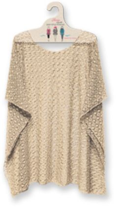 beige mesh poncho Case of 10
