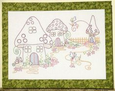 'Stitching Fairies' designed by Rosalie Quinlan, stitched using my own threads
