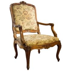 Fine Louis XV Walnut Fauteuil, circa 1755 | From a unique collection of antique and modern armchairs at https://www.1stdibs.com/furniture/seating/armchairs/