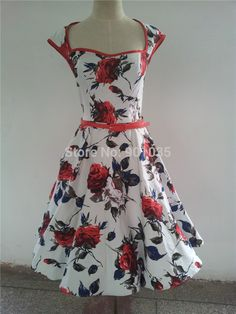 Aliexpress.com : Buy free shipping New Ladies vintage 1940s 50's style Poppy Floral Polka Dot  Swing Dress SIZE 8 24 from Reliable dress invitations suppliers on Beautiful Girl&Happy Life  | Alibaba Group