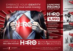 Project Art - HERO Graphic PACKAGE. Tel: 213 9742 / 52 54 10 88