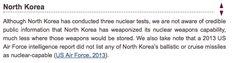 Sage Journals, Bulletin of the Atomic Scientists, Aug 26, 2014: Worldwide deployments of nuclear weapons, 2014 [North Korea], Hans M. Kristensen, Robert S. Norris. B2