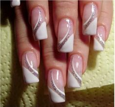 French Manicure Designs & Nail Art Design, http://wp.me/p3wUre-s . . French manicure and all nail art design never go out of fashion. All designs are very easy for girls nail . . . #EasyNailDesigns #FrenchManicureAtHome #FrenchManicureDesignsForWedding
