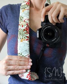 DIY Camera Strap. I want to make this next. I took some pics for etsy the other day and my camera strap is so itchy. This one is padded, so that should help a lot.