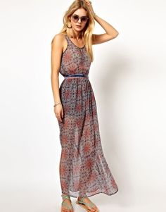 Pepe Jeans Printed Maxi Dress With Beads And Belt. Considering to buy this.. ;)