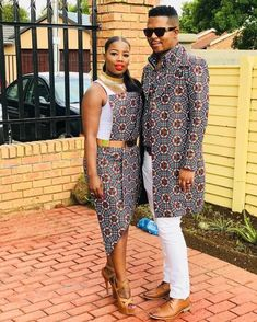 African Print Fashion, Africa Fashion, African Fashion Dresses, Ethnic Fashion, African Prints, African Wedding Attire, African Attire, African Dress, Couple Outfits