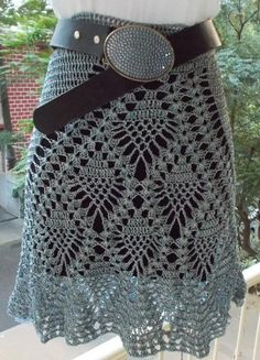 FREE CROCHET PATTERN for this skirt at https://shyamanivas.blogspot.in/2014/10/all-pineapples-skirt.html