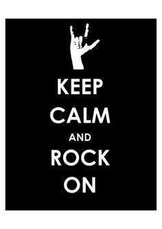Bathroom Keep Calm And Rock On Hand Art Print In Water Proof Frame
