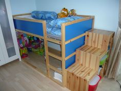 Ikea Kura Bed and storage stairs