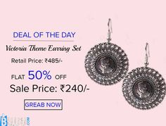 Victoria Theme Earring Set Product code: MIJA90E133 Retail price: 500/- Sale price : 247/-