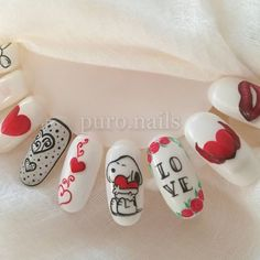 Half is done :) 14th Feb coming soon! :)  #hybrydnails #hybryda #hybrydypronail #nailart #nailsoftheday #nails #nailartist #paznokcie #paznokciehybrydowe #pazurki #pastelnails #snoopy #piękne  #woman #polishgirl #instanails #love #instanails #nailsinspiration #nailporn #finnishgirl #kynsi #walentynkinails #hobby #prettynails #ihanakynsilakka #kynnet #painting #walentynki #milosc #wzorniki