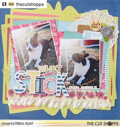 MY last project for @thecutshoppe  Design Team member @katrinahunt is sharing her last layout with us, and she rocked it!  We love the fun way she used the Picture Perfect cut file with the Open Letter Alpha cut file!  #thecutshoppe #etsy #diecuts #diecutmachine #digitalcutfiles #cutfiles #png #silhouettecameo #scrapbooking #scrapbooklayout #papercrafts #papercrafting
