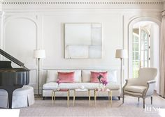 decor by Suzanne Kasler for Colorado home via Luxe Interiors + Design Magazine