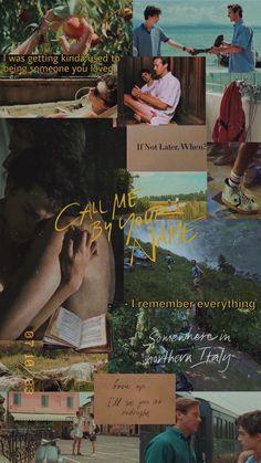 Wallpaper / Call me by your name Aesthetic Movies, Aesthetic Pictures, Movies To Watch, Good Movies, Your Name Movie, Your Name Wallpaper, Movie Collage, Arte Van Gogh, Sufjan Stevens