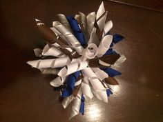 Dallas cowboys korker ribbon hair clip by CreationsbySAHM on Etsy https://www.etsy.com/listing/200522819/dallas-cowboys-korker-ribbon-hair-clip
