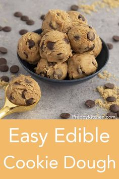 You'll love this worry-free and DELICIOUS edible cookie dough from Preppy Kitchen made with toasted flour and no eggs! Easy to make and store for an indulgent anytime treat! Best Dessert Recipes, Desert Recipes, Easy Desserts, Delicious Desserts, Drink Recipes, Gluten Free Bars, Easy Gluten Free Desserts, Edible Cookie Dough, Chocolate Chip Cookie Dough