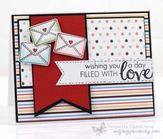 Hey everyone! I'm SO honored today to join SugarPea Designs in celebrating their birthday! I couldn't say YES fast enough when Wendy asked me to join in! SPD has some really cute stamps and I wish . Day Wishes, Happy Mail, Love Design, Birthday Bash, Love And Marriage, Clear Stamps, Wedding Cards, Cardmaking, Paper Crafts