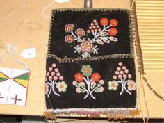 Iroquois Beaded Wall Pouch