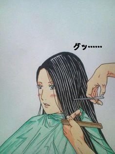 Undercut bob haircut 01 by on DeviantArt Shaved Pixie, Shaved Hair Cuts, Undercut Bob Haircut, Anime Haircut, Forced Haircut, Bald Girl, Pop Culture Art, Short Blonde, Hair Art