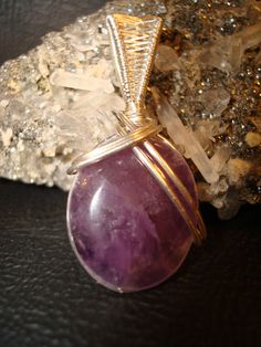 Amethyst Sterling Silver Pendant by superioragates on Etsy, $35.00