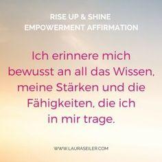 Rise Up & Shine Empowerment Affirmationen Laura Seiler