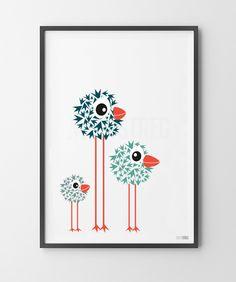 Pjusket pipper – MinStreg Art Drawings For Kids, Doodle Drawings, Doodle Art, Easy Drawings, Art For Kids, Happy Paintings, Bird Art, Nursery Wall Art, Cute Art