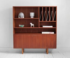 Mid Century Danish Teak Wall Unit - Credenza, Hutch, Cabinet, Modern, Wood