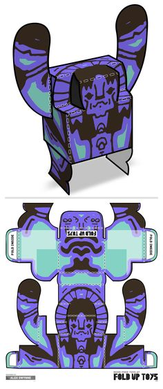 Downloadable paper art toy design by Fold Up Toys - Rorschach #003