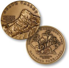 Commemorate your visit to Death Valley National Park with this die-struck medallion created by master artisans. Great as a gift, to celebrate a trip or to just hold as a lasting reminder of your journ Death Valley National Park, Challenge Coins, North West, National Parks, Artisan, Bronze, Southern California, Gift, Journey