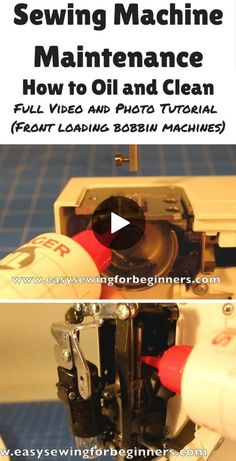 How to oil and clean a front loading sewing machine - video - Sew Modern Bags Sewing Machine Service, Sewing Machine Repair, Sewing Machine Parts, Sewing Tools, Sewing Hacks, Sewing Tutorials, Sewing Projects, Sewing Diy, Sewing Ideas