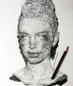 Sketchbook Drawing Swirling Lines and Swaths of Charcoal Form Dramatic Portraits by Lee.