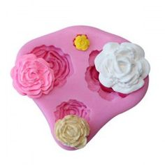 SHARE & Get it FREE | Hot Baking DIY Tool 3D Rose Shape Silicone Fondant…