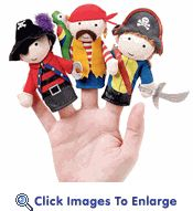 Pirate Finger Puppets @Krysta Lindsay Harris...these would be fun for your future kids! Or just for you to play with at work. :)