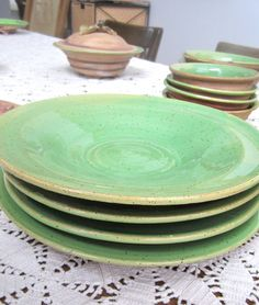 Hand Made Turkish Ceramic Plate / Wall Decor. Dinner WareDinner PlatesGreen ... & TERRA DINNER PLATES - Relish in the rustic beauty of this fair ...