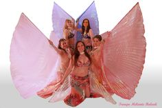 Troupe Mélanie Baladi 2016. Photo danse orientale avec les ailes disis