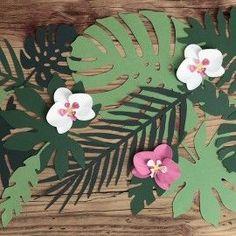 Décoration de feuilles tropicale (par 21)