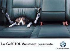 epic VW Golf TDI print ad (2005)