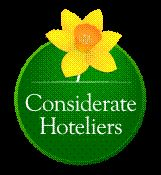 We joined Considerate Hoteliers in 2009.    About CH - Created in 1991 in Westminster with a founder membership of London's flagship hotels, the Considerate Hoteliers Association (CHA) was one of the first hotel associations worldwide to impart the message that care for the environment and social responsibility should form a major part of a responsible hotelier's agenda.