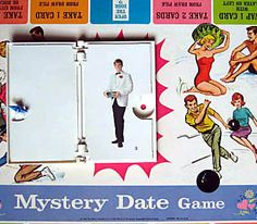 Vintage Mystery Date Game Board 1965