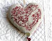 Saint Valentin coeur de lavande brodé : Accessoires de maison par toucan