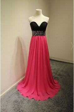 Charming Prom Dress,Chiffon Prom Dress,Sweetheart Neck Prom: