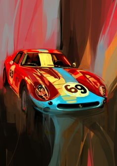 Ferrari illustration by Swaroop Roy