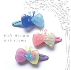 ⭐️︎ Renewal Butterfly kids hairpin / name patch pin Plastic Jewelry, Resin Jewelry, Diy Accessories, Costume Accessories, Butterfly Kids, Shrink Art, Name Patches, Shrinky Dinks, Shrink Plastic