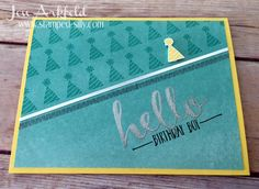 CAS by Jen: Hello (SAB) - all from Stampin' Up!