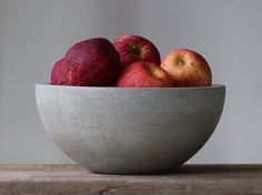"Concrete Fruit Bowl 10"" by roughfusion on Etsy https://www.etsy.com/listing/203084195/concrete-fruit-bowl-10"