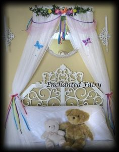 Fairy PRINCESS Boutique Bed Crown Canopy by SoZoeyBoutique on Etsy $59.99 & Pin by Wendy Arrington Battaglia on Girlsu0027 Rooms | Pinterest