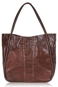 42316ef226e Gypsy style leather bag Bruine Leren Bakken, Lederen Tassen, Katoenen Zak,  Grote Tas