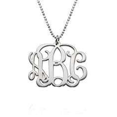 Initial Monogram Necklace - Custom Made with Any Initial!.More info for nice necklaces for her;long necklaces for women;long necklaces;necklaces for girls with price;vintage necklaces could be found at the image url.(This is an Amazon affiliate link and I receive a commission for the sales)